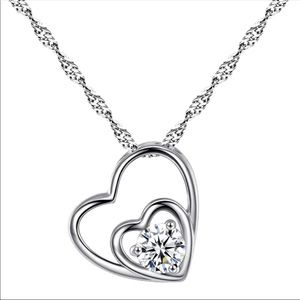 ❤️ Double Heart Women's Necklace 10200
